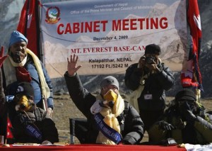 Cabinet Ministers meeting at Everest base camp